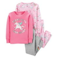 carter's® Size 3T 4-Piece Unicorn Sleepwear Set in Pink