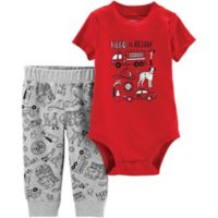 carter's® Size 18M 2-Piece To The Rescue Bodysuit and Pants Set in Red