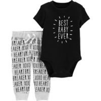 carter's® Size 9M 2-Piece Best Baby Bodysuit and Pants Set in Black
