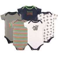 Luvable Friends Size 18-24M 5-Pack Dog Bodysuits in Grey