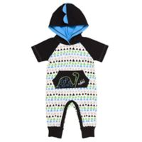 Baby Starters® Size 6M Dinosaur Hooded Coverall in White/Black