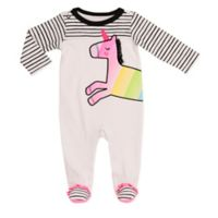 Baby Starters® Size 9M Unicorn Footie in White