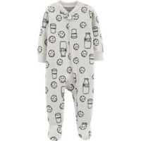 carter's® Size 6M Cookies Sleep & Play in Black/White
