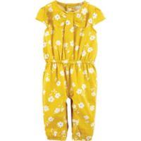 carter's® Newborn Floral Romper in Yellow