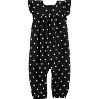 carter's® Size 18M Polka Dot Romper in Black/White