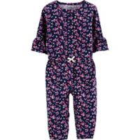 carter's® Size 24M Floral Long Sleeve Romper in Navy