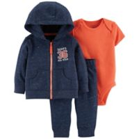 carter's® Size 3M 3-Piece Daddy's All Star Little Jacket Set in Navy