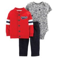 "carter's® Size 6M 3-Piece ""Awesome"" Jacket Set in Red"