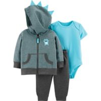 carter's® Size 9M Monster 3-Piece Jacket Set in Grey