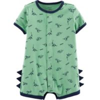 carter's® Size 6M Snap-Up Dinosaur Romper in Green