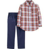carter's® Newborn 2-Piece Plaid Shirt and Pants Set