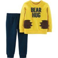 carter's® Newborn 2-Piece Bear Hug Shirt and Pants Set in Yellow