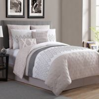 VCNY Home Caprice 8-Piece Reversible King Comforter Set in Neutral