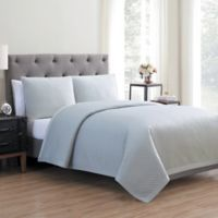 Vcny Home Adrianna 3 Piece Quilt Set in Glacier Grey