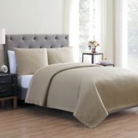 Vcny Home Adrianna 3 Piece Quilt Set in Gray