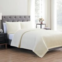 Vcny Home Adrianna 3 Piece Quilt Set in Marshmallow