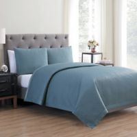 Vcny Home Adrianna 3 Piece Quilt Set in Stone Blue