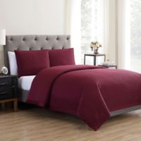 Vcny Home Adrianna 3 Piece Quilt Set in Wine