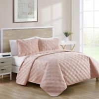VCNY Home Diana King Quilt Set in Blush