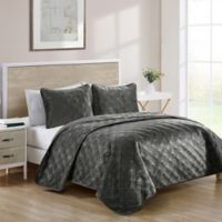 VCNY Home Diana King Quilt Set in Charcoal
