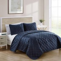 VCNY Home Diana King Quilt Set in Navy