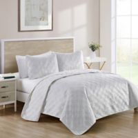 VCNY Home Diana King Quilt Set in Snow White