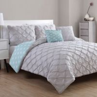 VCNY Home Zarah 5-Piece Reversible King Comforter Set in Hydrangea