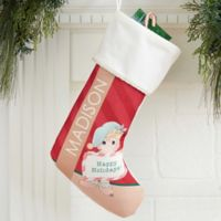 Precious Moments® Christmas Elf Personalized Stocking in Ivory