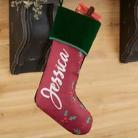 Cozy Christmas Personalized Christmas Stocking in Green