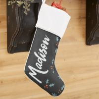 Cozy Christmas Personalized Christmas Stocking in Ivory