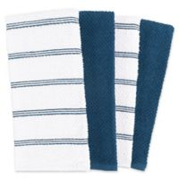 Piedmont Kitchen Towels in Blue (Set of 8)