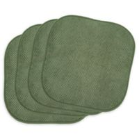 Bon Appetite Chair Pads in Green (Set of 4)