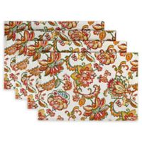 Jacobean Placemats in Red (Set of 4)