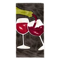 KitchenSmart® Colors Painterly Wine Duo Kitchen Towel in Caviar