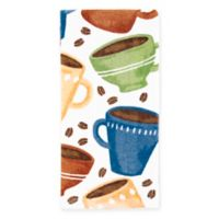 KitchenSmart® Colors Painterly Coffee Toss Kitchen Towel in Stem