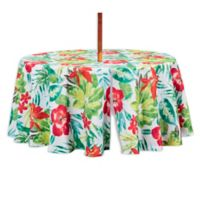 Lanai 70-Inch Round Indoor/Outdoor Tablecloth with Umbrella Hole