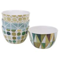 Certified International Mixed Greens Ice Cream Bowls (Set of 4)