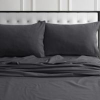 Tribeca Living 170-Thread-Count Flannel King Pillowcases in Artic Grey (Set of 2)