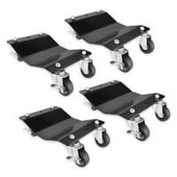 Professional Grade Quality Car Tire Skates in Black (4-Pack)