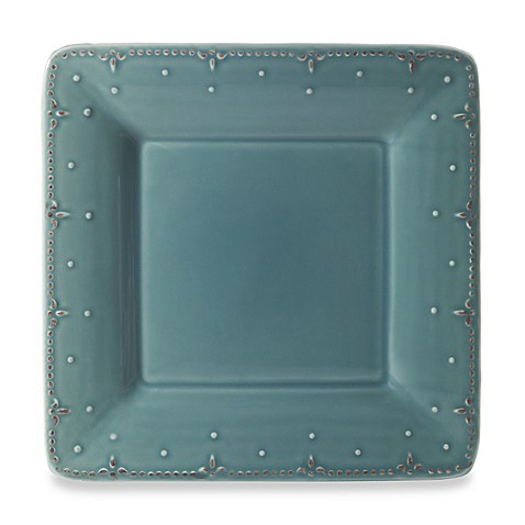 Genevieve 10 3/4-Inch Square Dinner Plate in Slate
