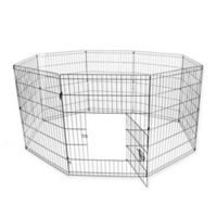 30-Inch Dog Playpen Crate Fence in Black