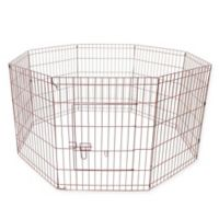 24-Inch Dog Playpen Crate Fence in Pink