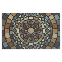 "Mohawk Home® Doorscapes Mosaic Mythos 18"" x 30"" Rubber Door Mat in Grey"