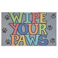 "Mohawk Home® Doorscapes Wipe Your Paws 18"" x 30"" Rubber Door Mat in Grey"