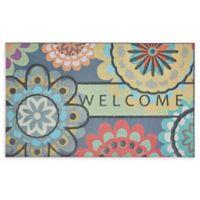 """Mohawk Home® Doorscapes Creative Dahlia Welcome 18"""" x 30"""" Rubber Door Mat"""