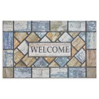 "Mohawk Home® Doorscapes Drifted Color Welcome 18"" x 30"" Rubber Door Mat"