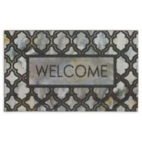 "Mohawk Home® Doorscapes Greystone Inlay Welcome 18"" x 30"" Rubber Door Mat in Grey\"