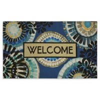 """Mohawk Home® Doorscapes Indigold Lace Welcome 18"""" x 30"""" Rubber Door Mat"""