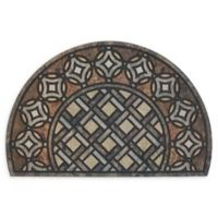 """Mohawk Home® Doorscapes Estate Mat Deco Tile Slice 23"""" x 35""""Door Mat in Brown"""