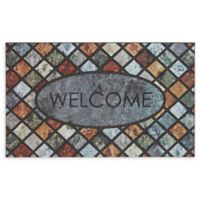 """Mohawk Home® Doorscapes Mineral Stone Welcome 18"""" x 30"""" Rubber Door Mat"""